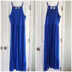 Old Navy Maxi Dress Cobalt Blue Size Petite M